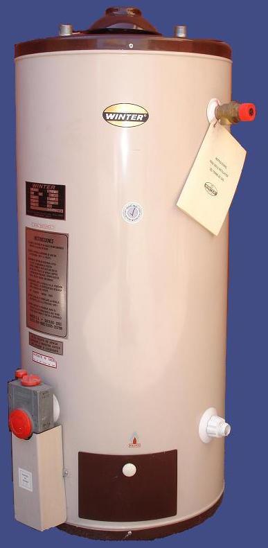Termo 300 Litros Gas Natural Inox Pie Alta Recuperacion