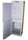 dispensador de agua con pedestal con mini refrigerador