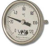 Termometro Bimetalico Bulbo Posterior Rango 0 a 120C Medidas 50x50x4mm