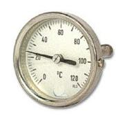 Termometro Bimetalico Bulbo Posterior Rango 0 a 120C Medidas 50x100x4mm
