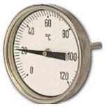 Termometro Bimetalico Bulbo Posterior Rango -50 a 50C Medidas 100x100x6.35mm