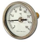 Termometro Bimetalico Bulbo Posterior Rango 0 a 50C Medidas 80x200x6.35mm