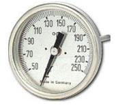Termometro Bimetalico Bulbo Posterior Rango 0 a 120C Medidas 50x200x4mm