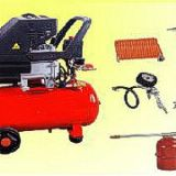 compresor de aire Electrico de 2 HP kit 5 pzas