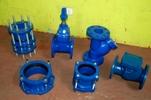 Valvulas cierre elastomerito, DN 100mm de hierro