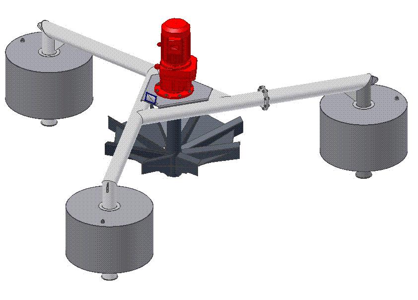 Aireador Superficial de Baja Rotacion para Aguas Residuales