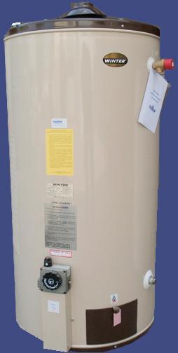 Termo 80 Litros Gas Natural  Inox Mural
