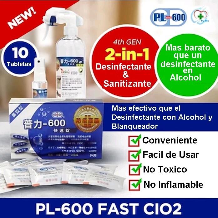 Desinfectante sanitizante Dioxido Cloro