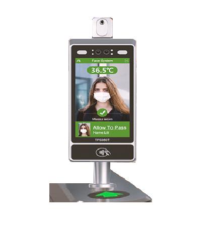 Terminal de deteccion de temperatura de reconocimiento facial