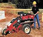 Zanjadora disenada para el trabajo de excavaciones